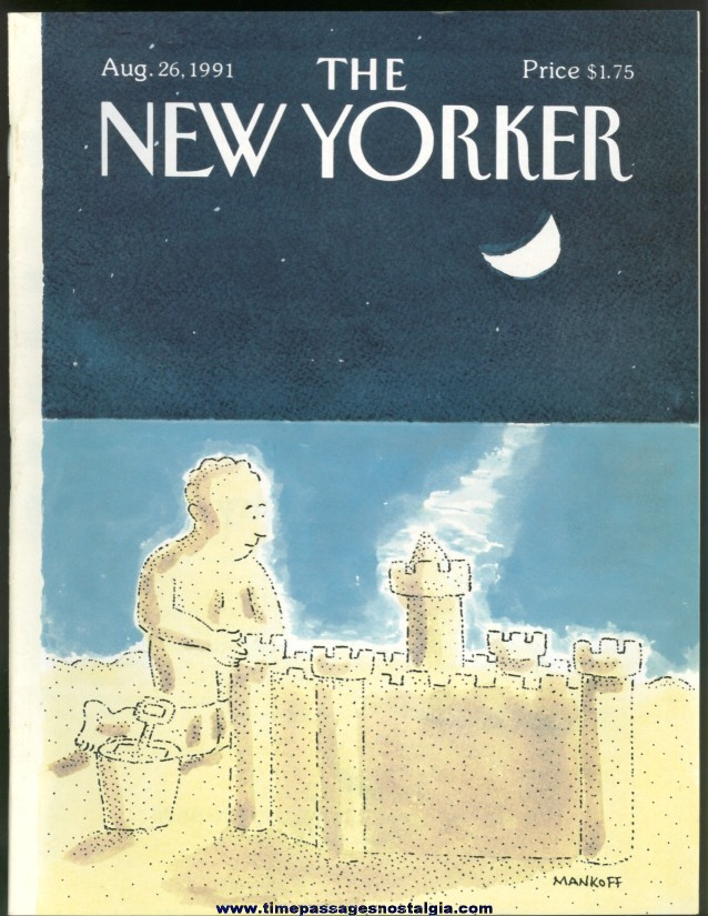 New Yorker Magazine - August 26, 1991 - Cover by Robert Mankoff