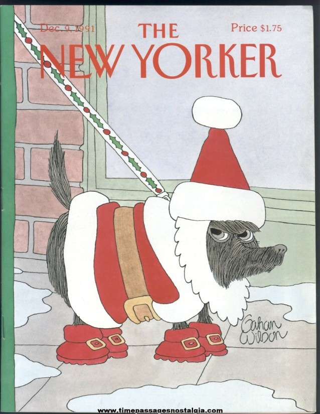 New Yorker Magazine - December 9, 1991 - Cover by Gahan Wilson