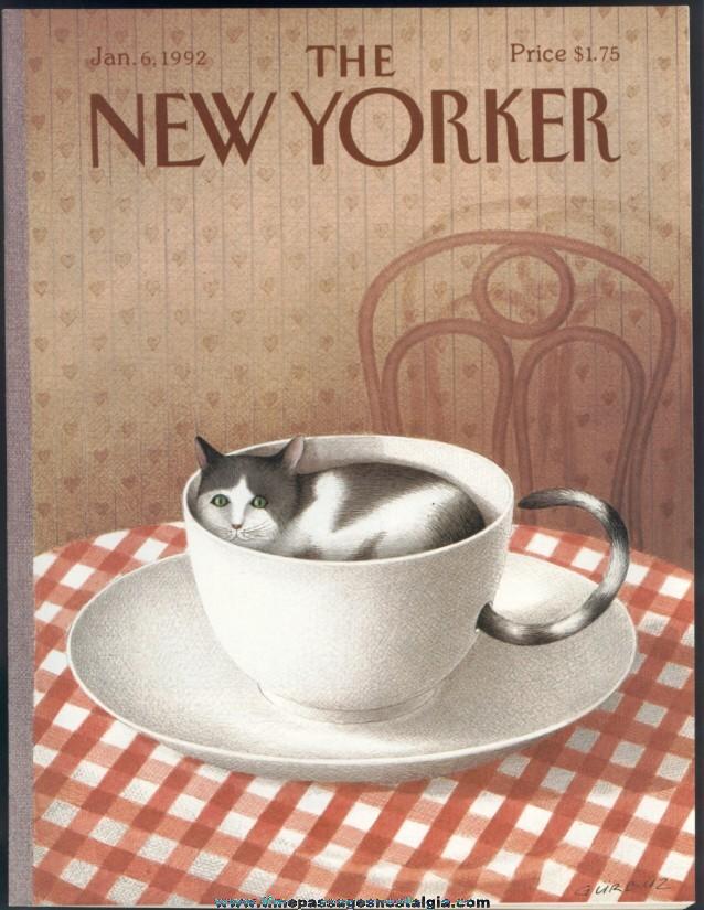 New Yorker Magazine - January 6, 1992 - Cover by Gurbuz Dogan Eksioglu