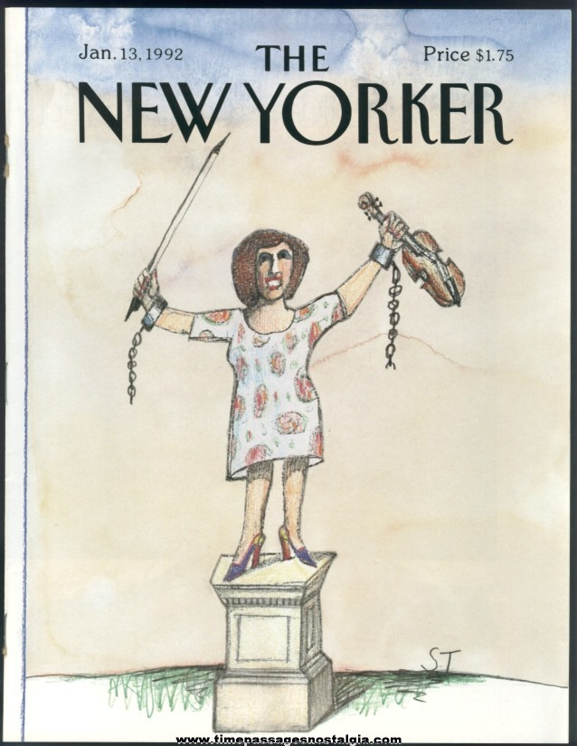 New Yorker Magazine - January 13, 1992 - Cover by Saul Steinberg