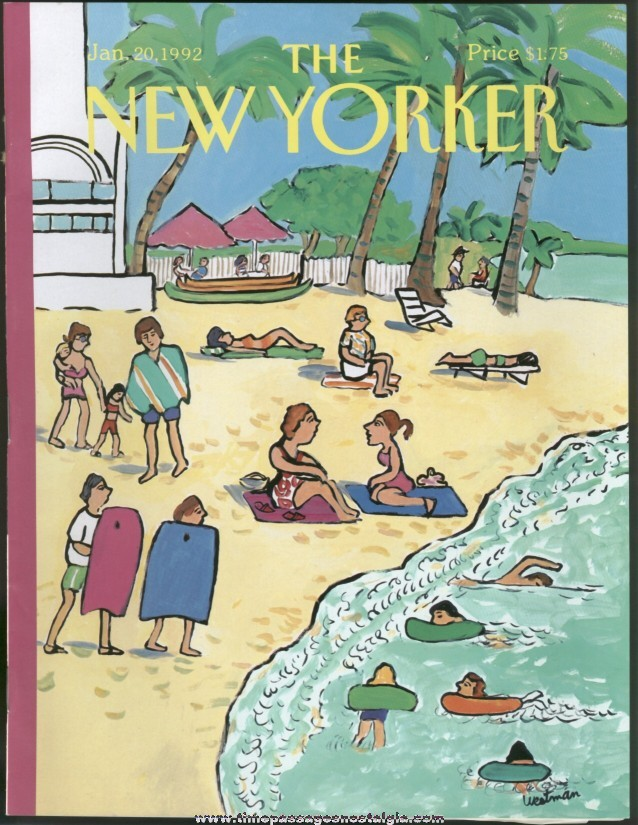 New Yorker Magazine - January 20, 1992 - Cover by Barbara Westman