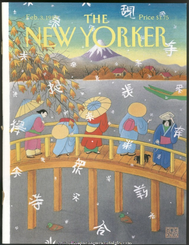 New Yorker Magazine - February 3, 1992 - Cover by Bob Knox