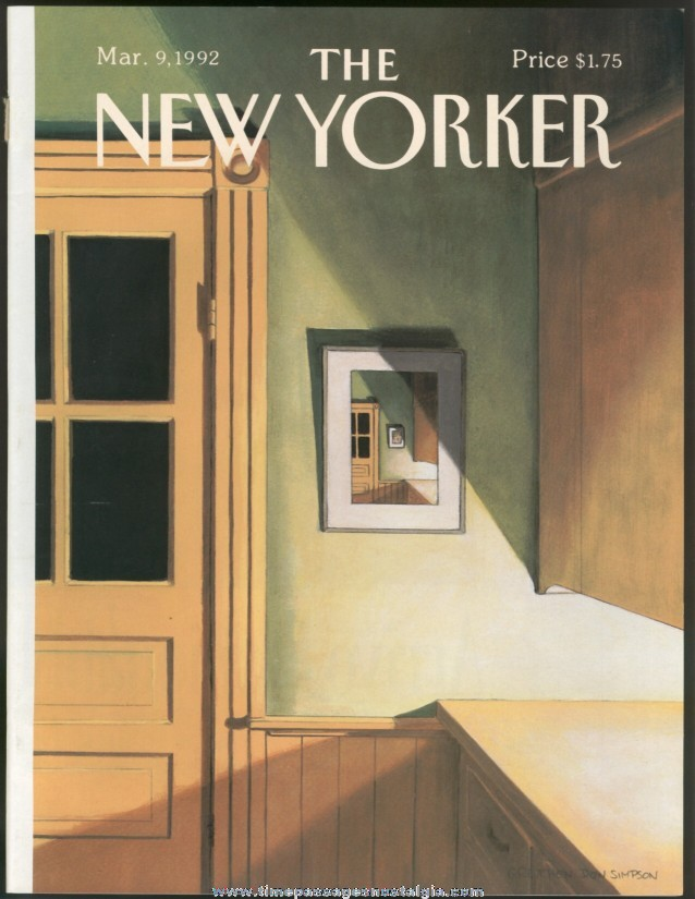 New Yorker Magazine - March 9, 1992 - Cover by Gretchen Dow Simpson