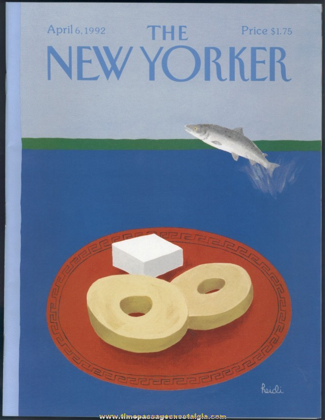New Yorker Magazine - April 6, 1992 - Cover by Heidi Goennel
