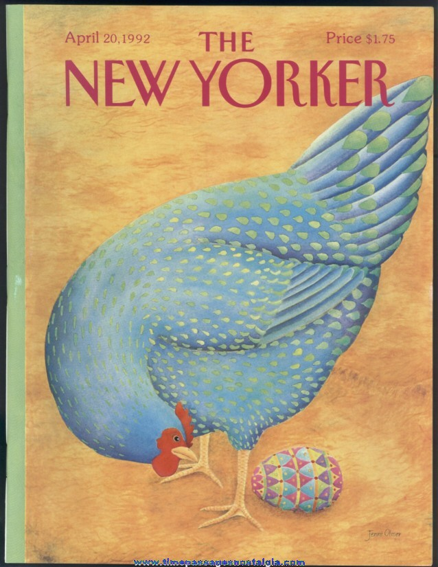 New Yorker Magazine - April 20, 1992 - Cover by Jenni Oliver
