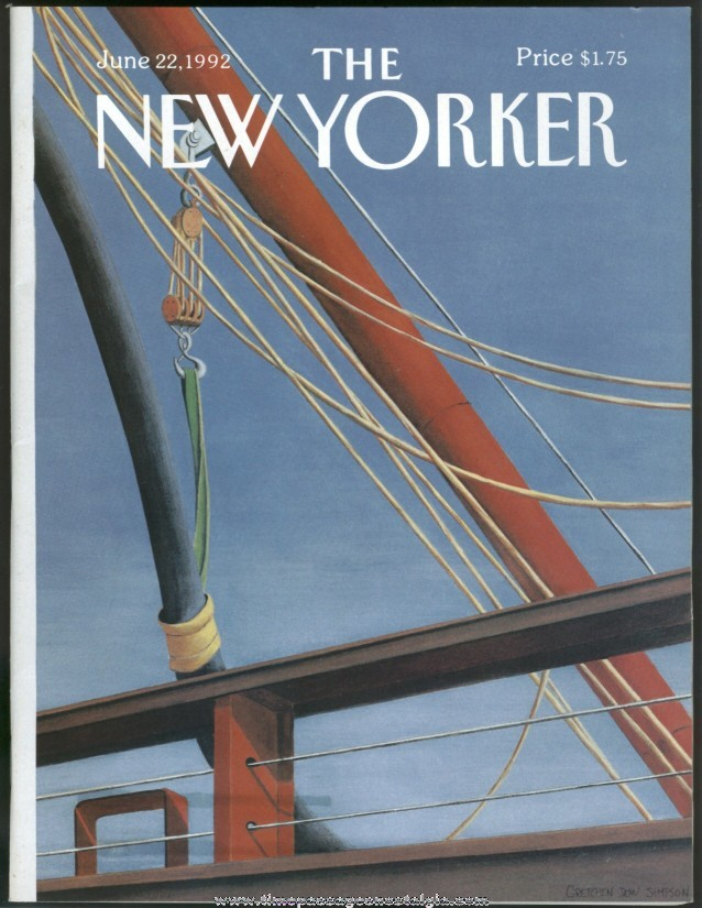 New Yorker Magazine - June 22, 1992 - Cover by Gretchen Dow Simpson
