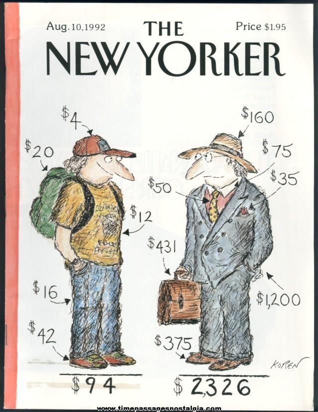 New Yorker Magazine - August 10, 1992 - Cover by Edward Koren