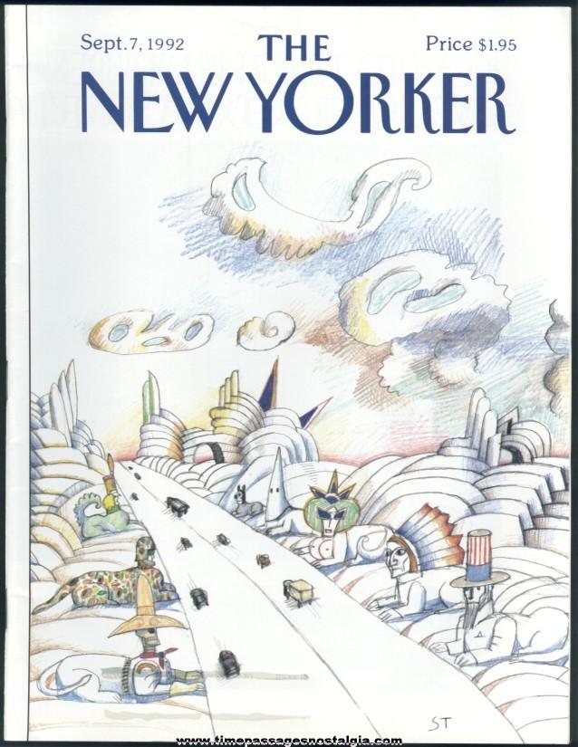 New Yorker Magazine - September 7, 1992 - Cover by Saul Steinberg
