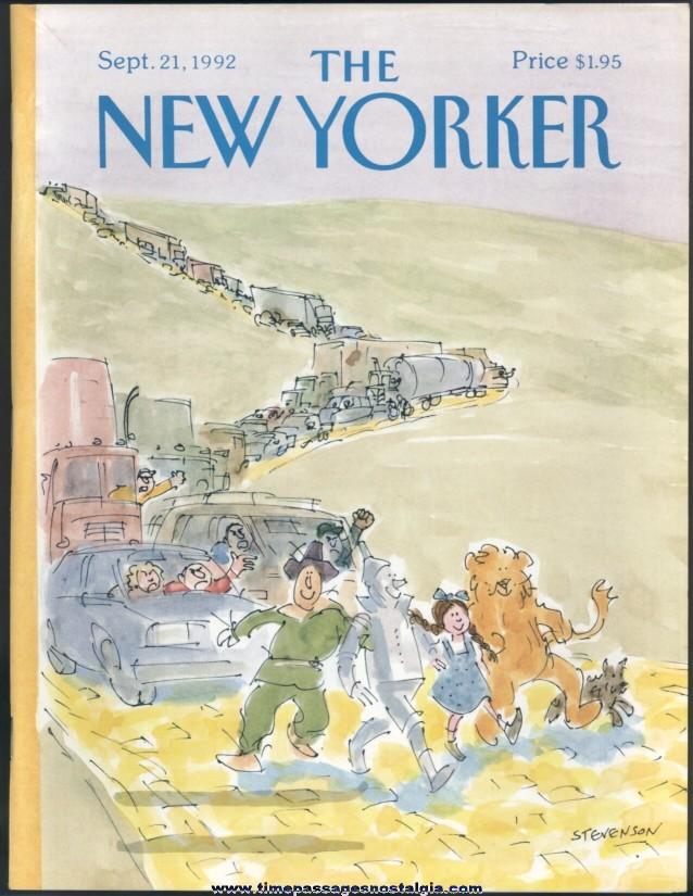 New Yorker Magazine - September 21, 1992 - Cover by James Stevenson
