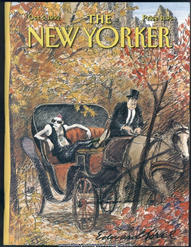 New Yorker Magazine - October 5, 1992 - Cover by Edward Sorel
