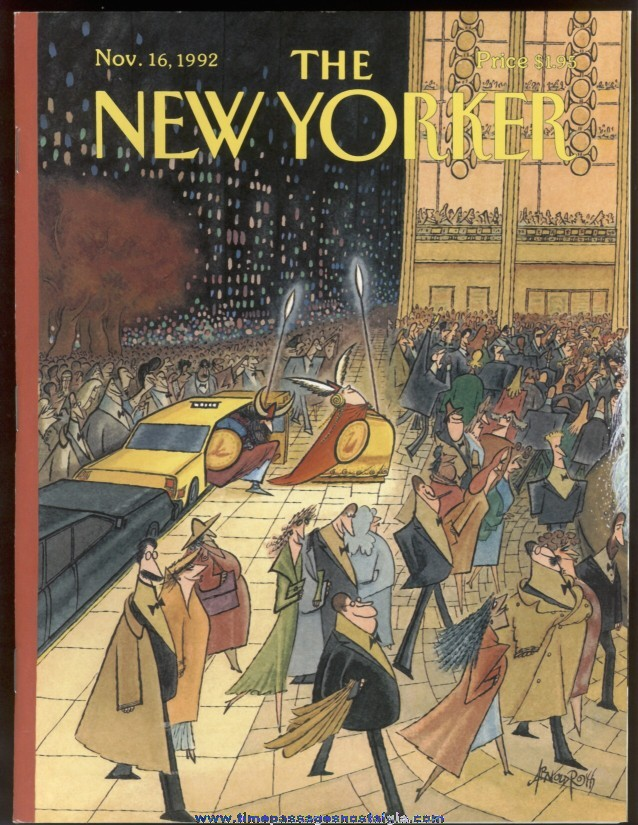 New Yorker Magazine - November 16, 1992 - Cover by Arnold Roth