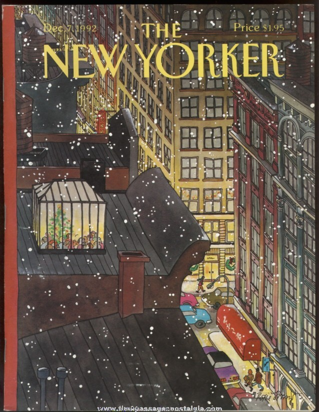 New Yorker Magazine - December 7, 1992 - Cover by Roxie Munro