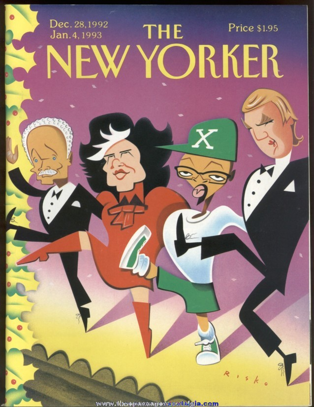 New Yorker Magazine - December 28, 1992 - Cover by Robert Risko