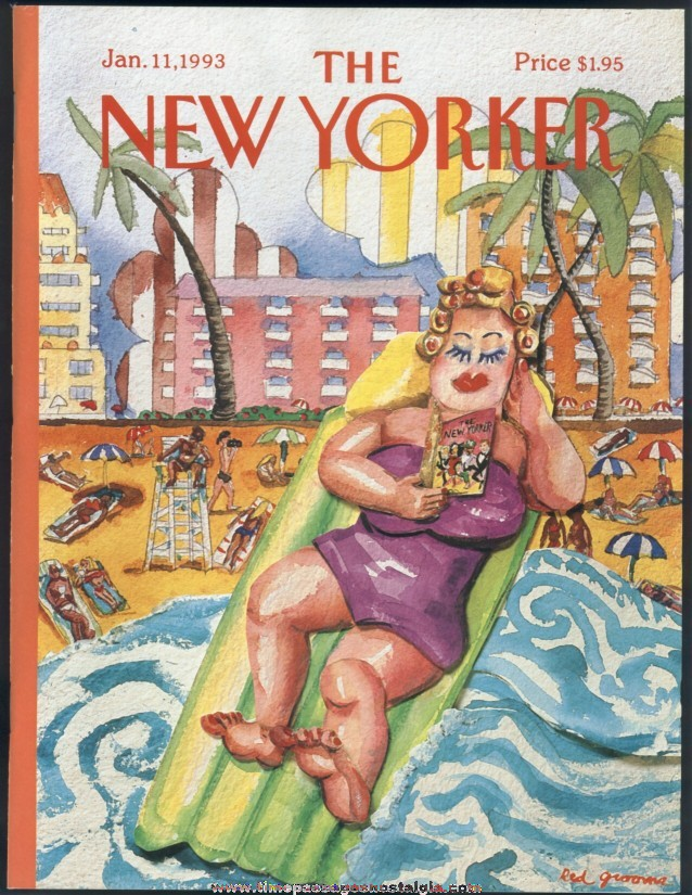 New Yorker Magazine - January 11, 1993 - Cover by Red Grooms