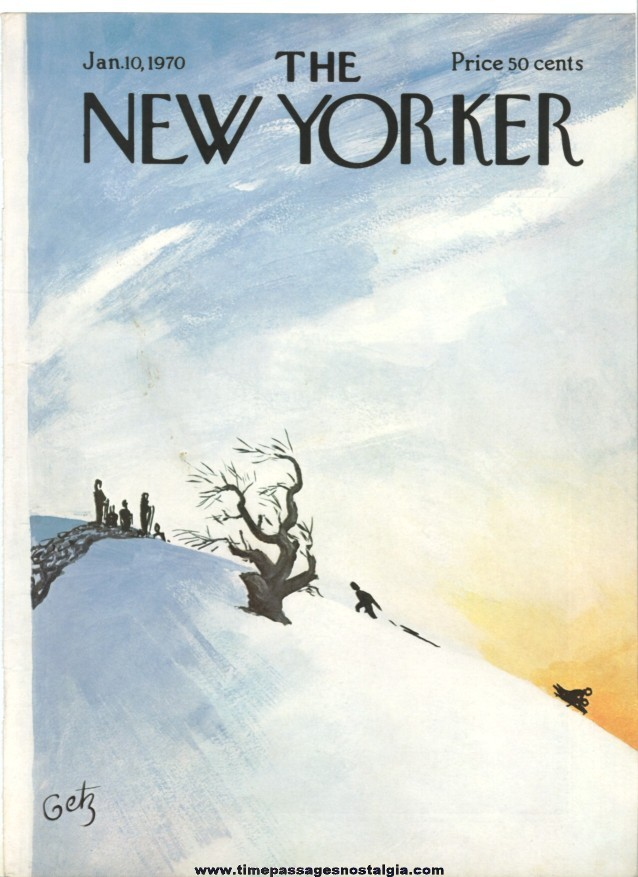 New Yorker Magazine COVER ONLY - January 10, 1970 - Arthur Getz