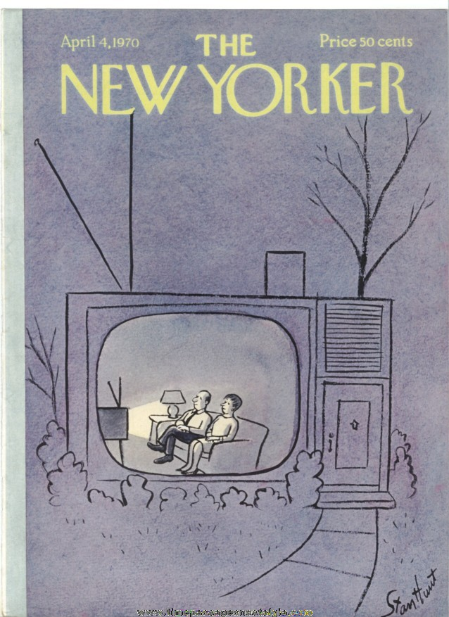 New Yorker Magazine COVER ONLY - April 4, 1970 - Stan  Hunt