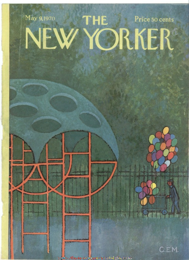 New Yorker Magazine COVER ONLY - May 9, 1970 - Charles E. Martin
