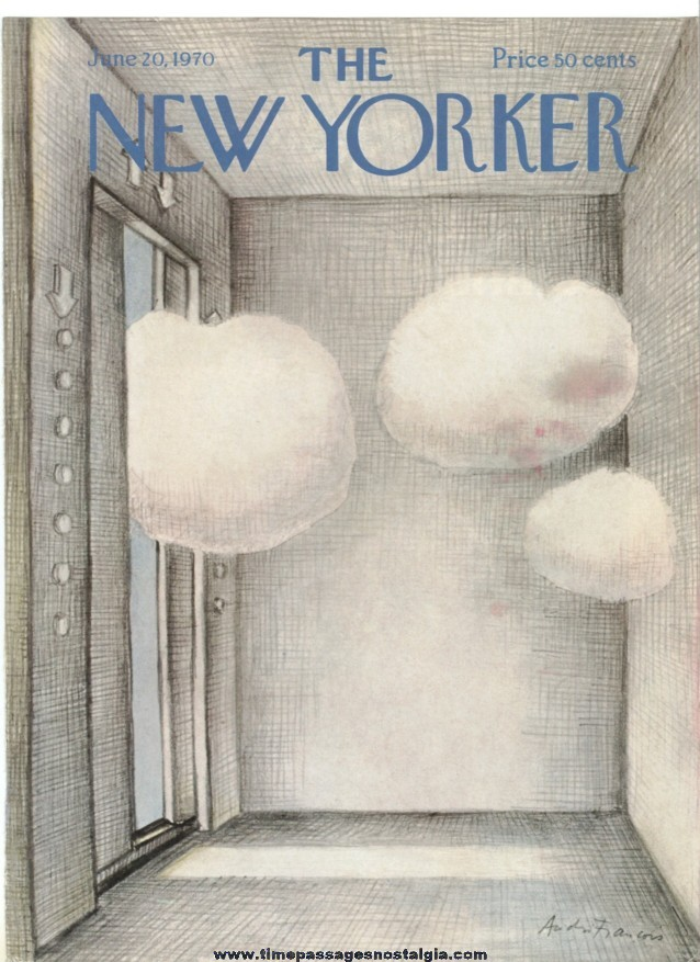 New Yorker Magazine COVER ONLY - June 20, 1970 - Andre Francois