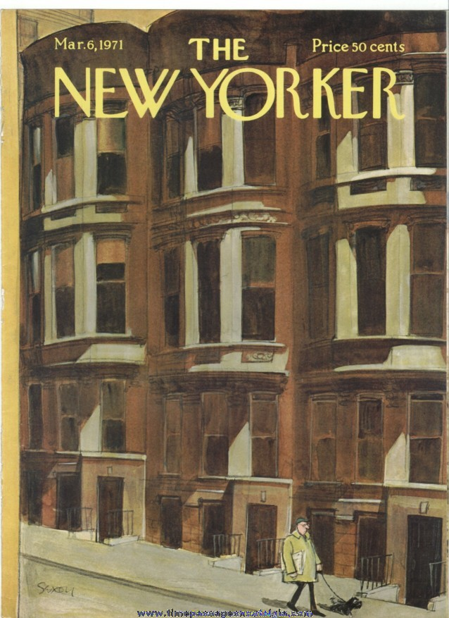 New Yorker Magazine COVER ONLY - March 6, 1971 - Charles Saxon