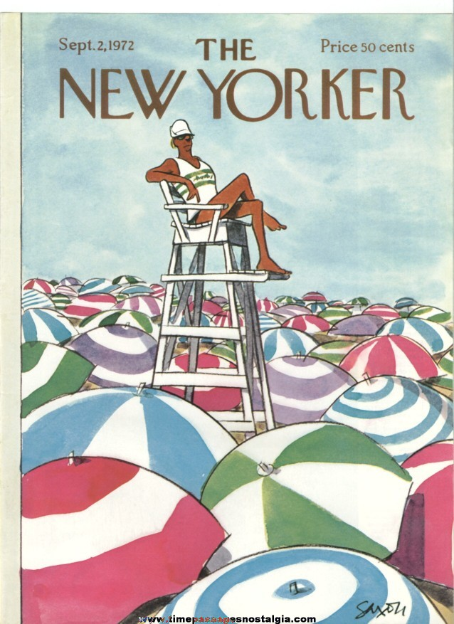New Yorker Magazine COVER ONLY - September 2, 1972 - Charles Saxon