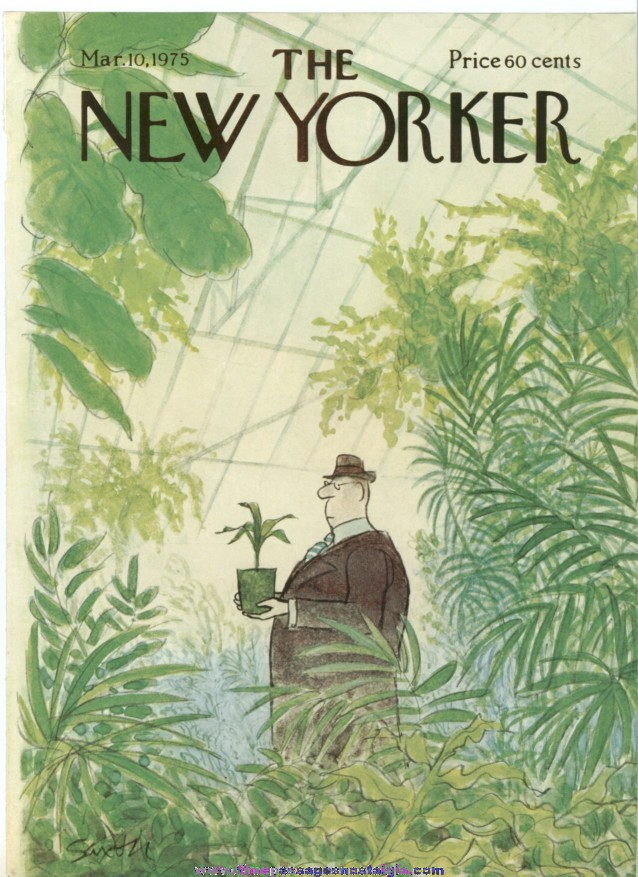 New Yorker Magazine COVER ONLY - March 10, 1975 - Charles Saxon