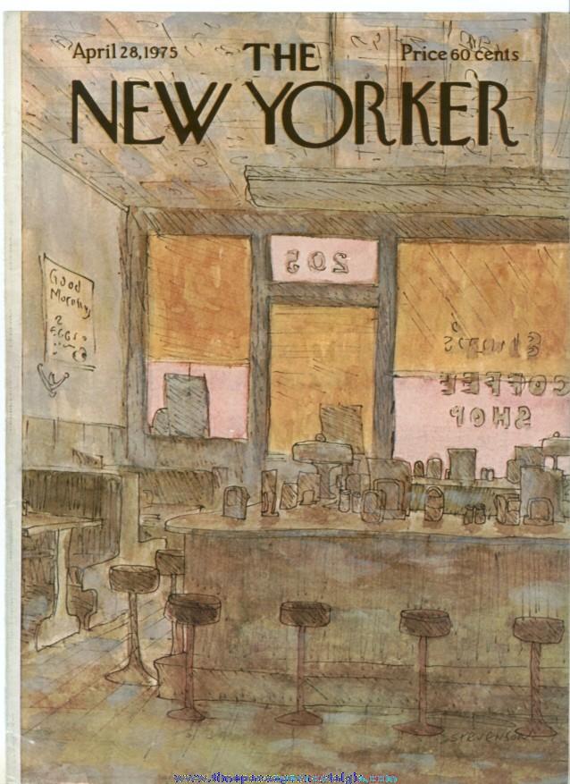 New Yorker Magazine COVER ONLY - April 28, 1975 - James Stevenson