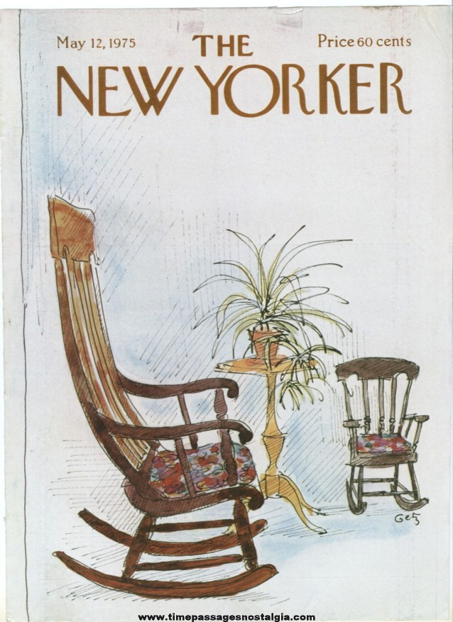 New Yorker Magazine COVER ONLY - May 12, 1975 - Arthur Getz