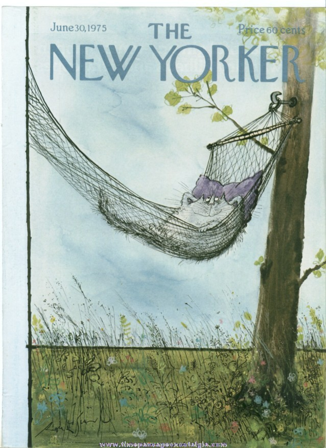 New Yorker Magazine COVER ONLY - June 30, 1975 - Ronald Searle