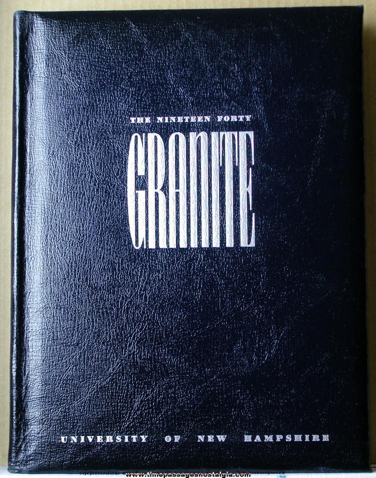 1940 University of New Hampshire Yearbook (Granite)